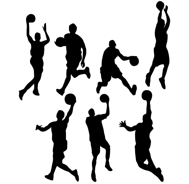 Basketball-silhouettes