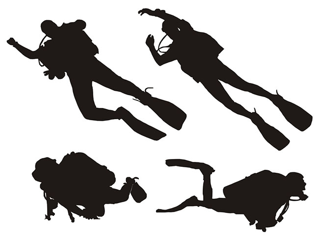 Diving-silhouette