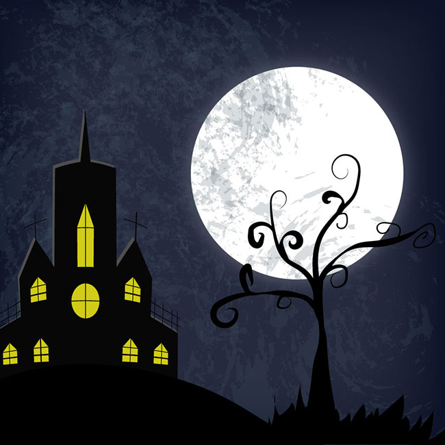 Free-vector-halloween-haunted-house