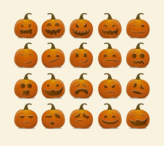 Halloween-Pumpkin-emoticons