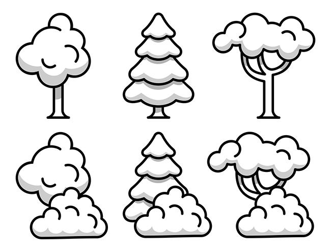 Tree-illustration-set