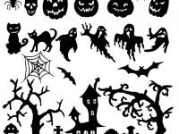 Vector-set-of-halloween-silhouette-elements