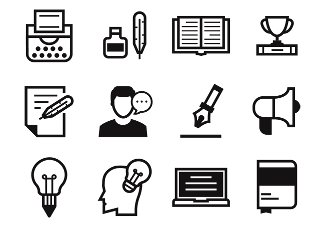 Free-Writers-and-Storytelling-Icons-Vector